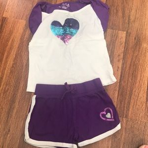 3 outfits. Size 5T.  Gently used